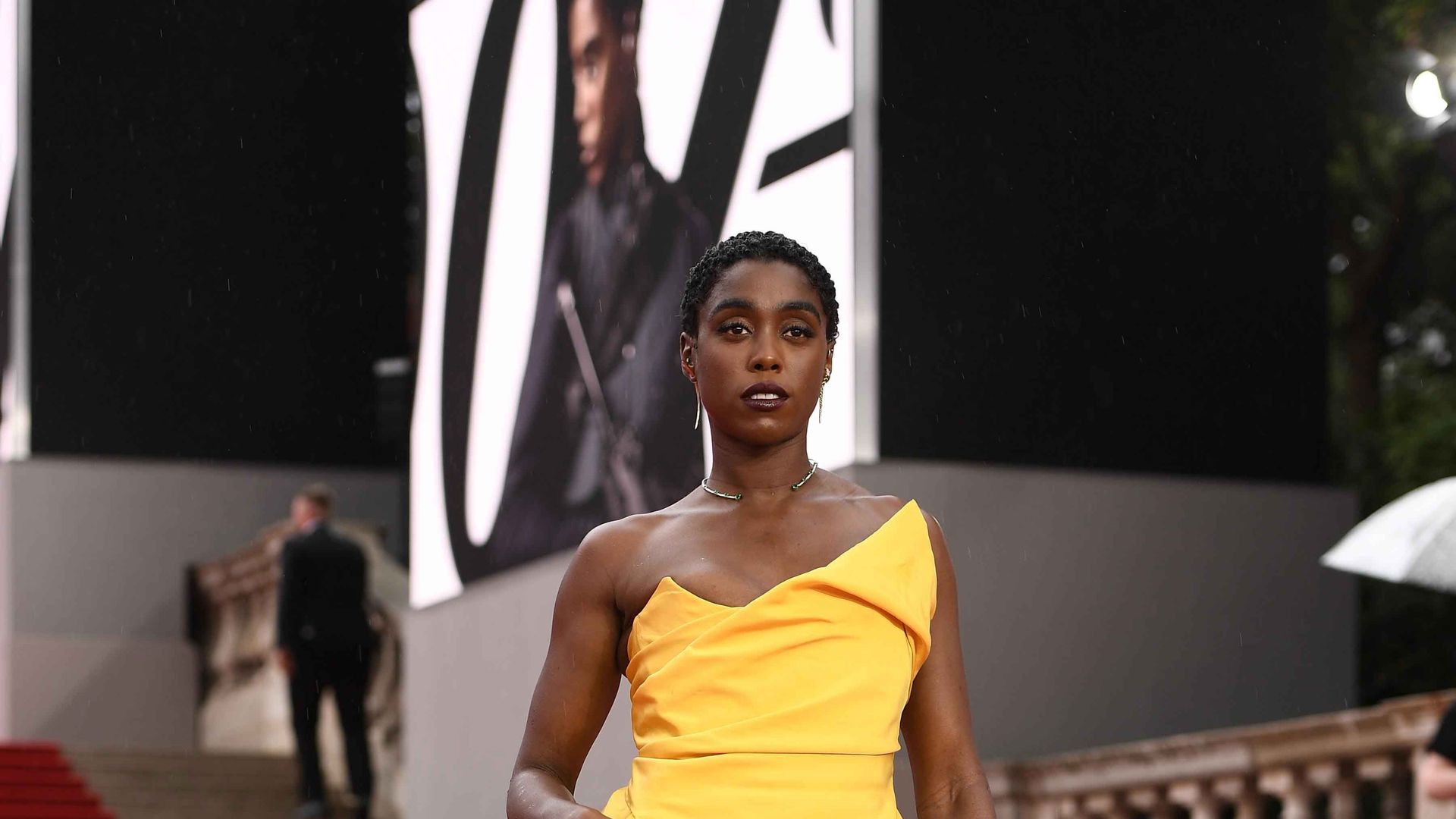 """Lashana Lynch attends the World Premiere of """"NO TIME TO DIE"""""""