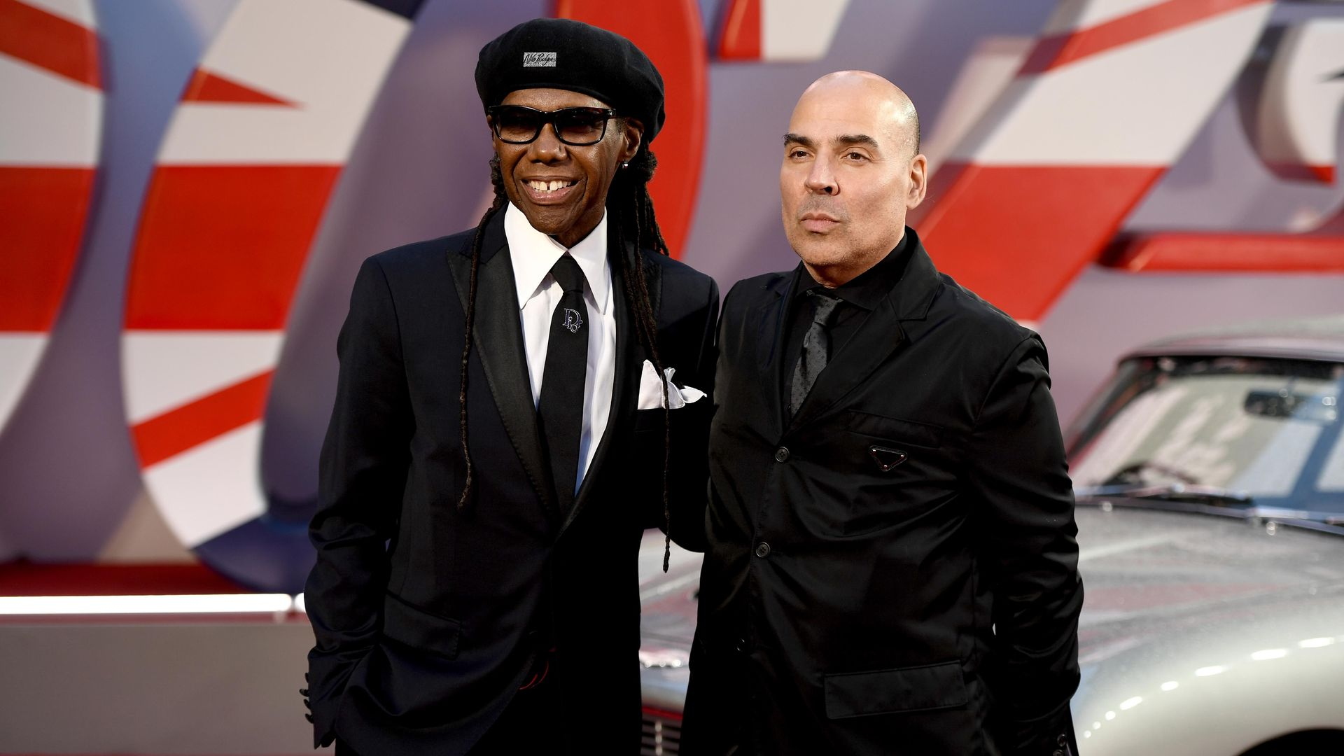 """Nile Rodgers and Merck Mercuriadis at the World Premiere of """"NO TIME TO DIE."""""""