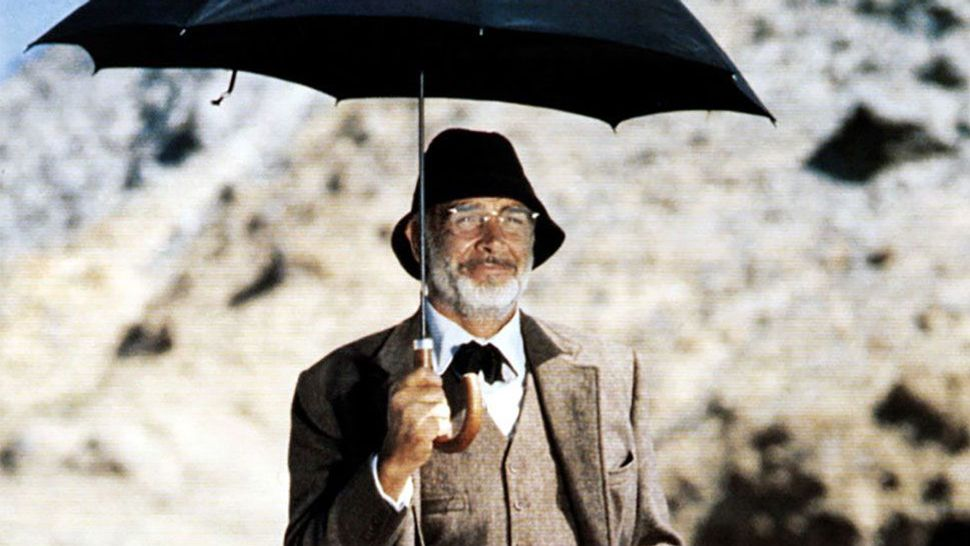 INDIANA JONES AND THE LAST CRUSADE, Sean Connery, 1989.