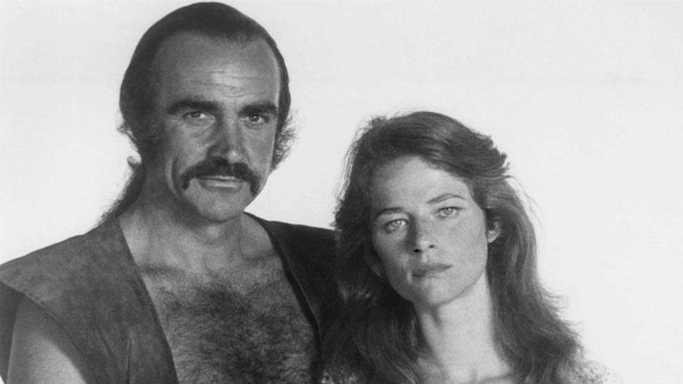 ZARDOZ, from left: Sean Connery, Charlotte Rampling, 1974.