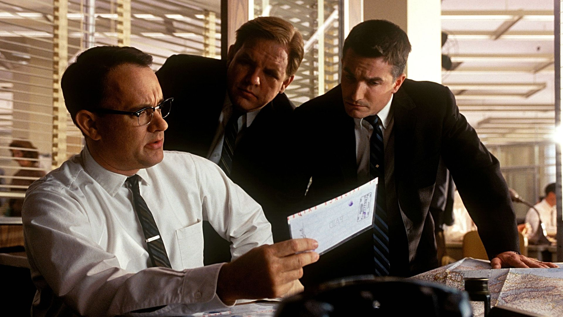 """Tom Hanks, Frank John Hughes, Brian Howe in """"Catch Me If You Can."""""""