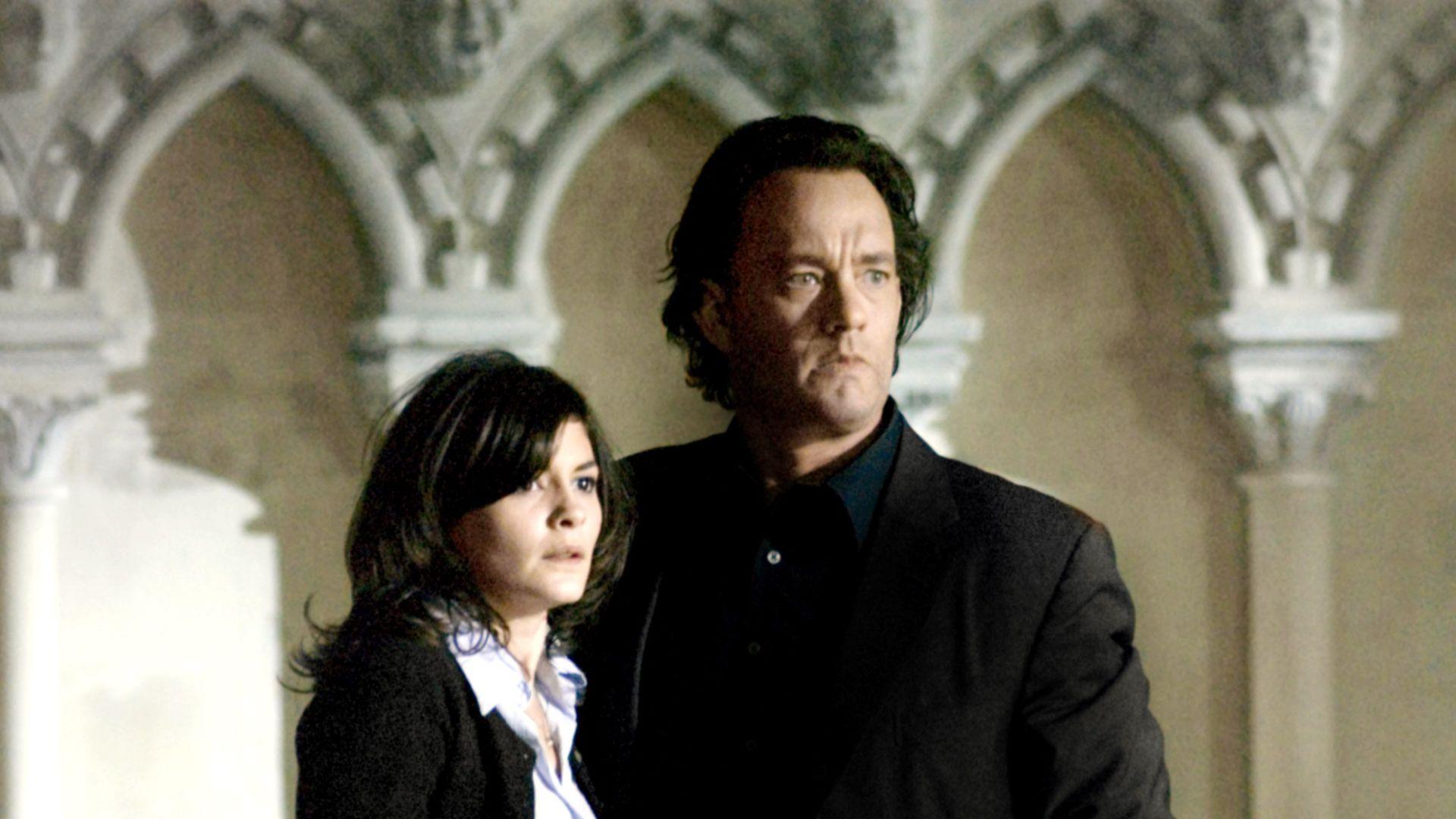 "Audrey Tautou, Tom Hanks in ""The Da Vinci Code."""