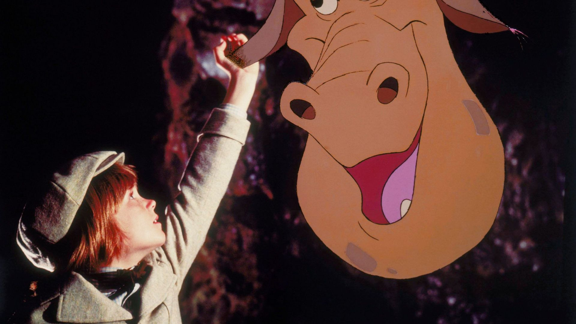 """Sean Marshall and Elliot the Dragon in """"Pete's Dragon (1977)."""""""