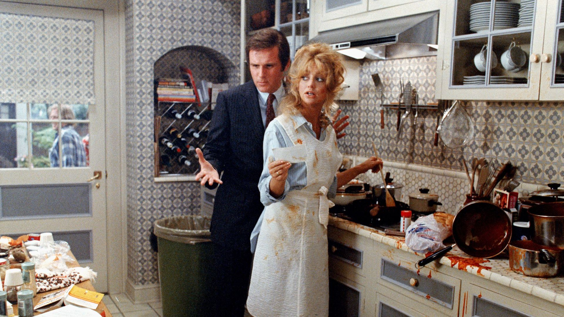 """Charles Grodin and Goldie Hawn in """"Seems Like Old Times."""""""