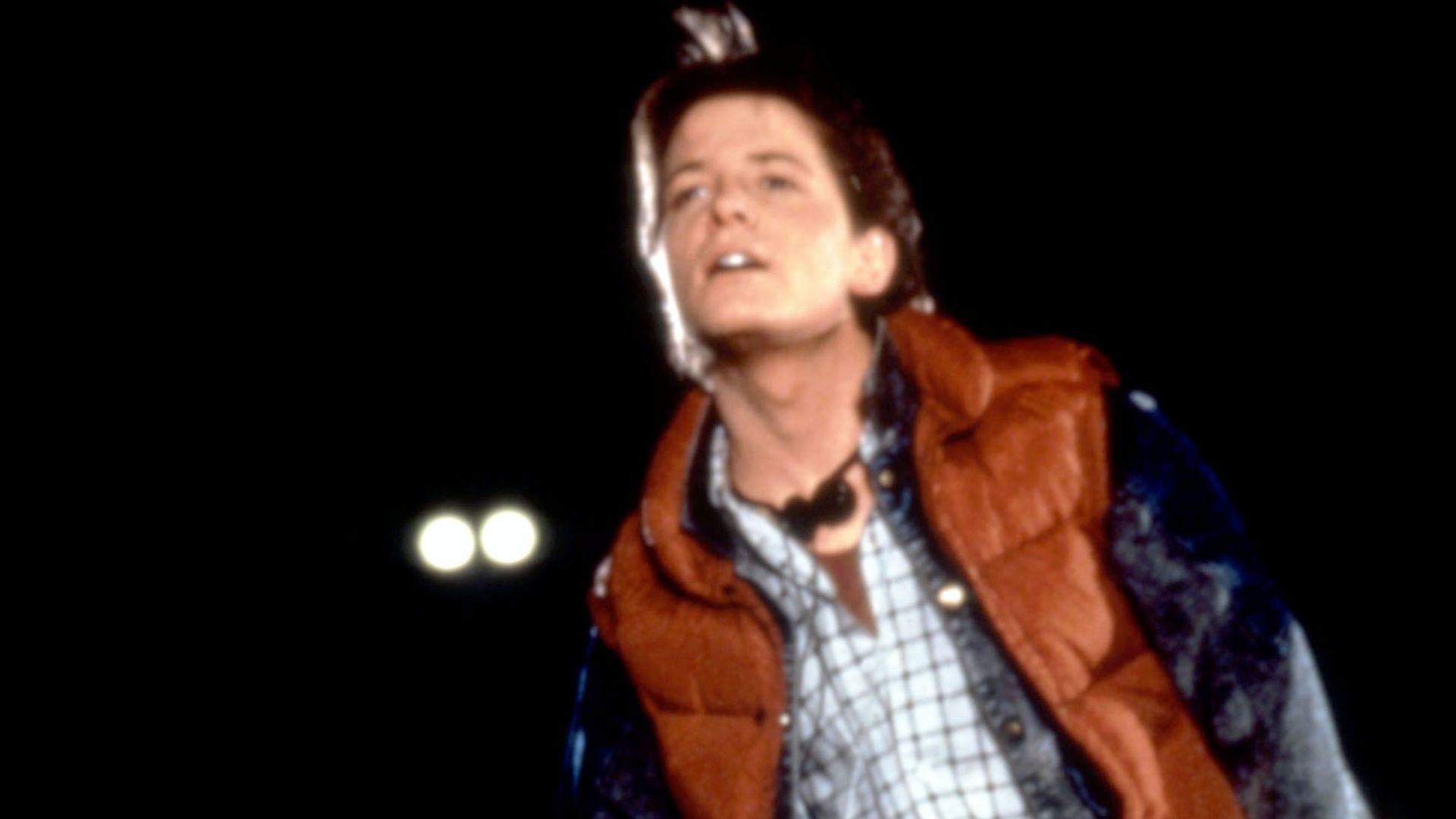 """Michael J. Fox in """"Back to the Future."""""""