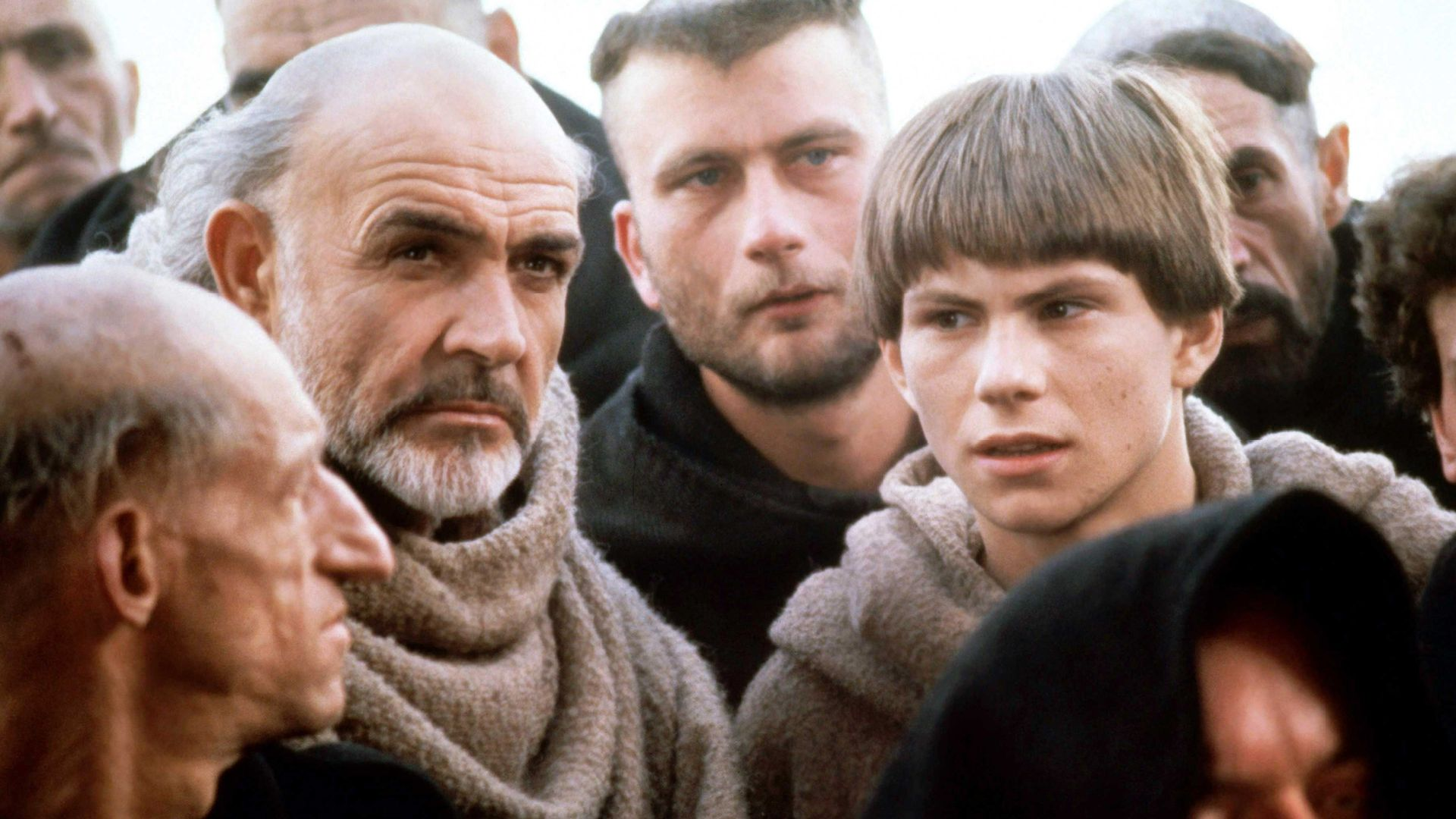 THE NAME OF THE ROSE, from left, Sean Connery, Christian Slater, 1986.
