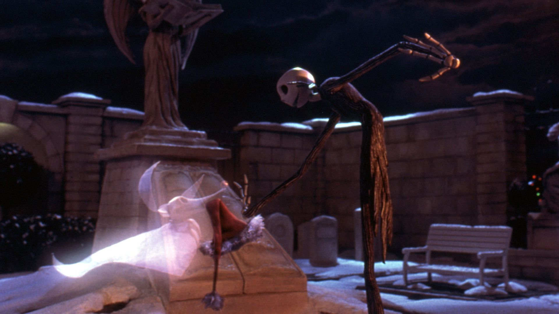 """Zero and Jack Skellington from """"The Nightmare Before Christmas."""""""