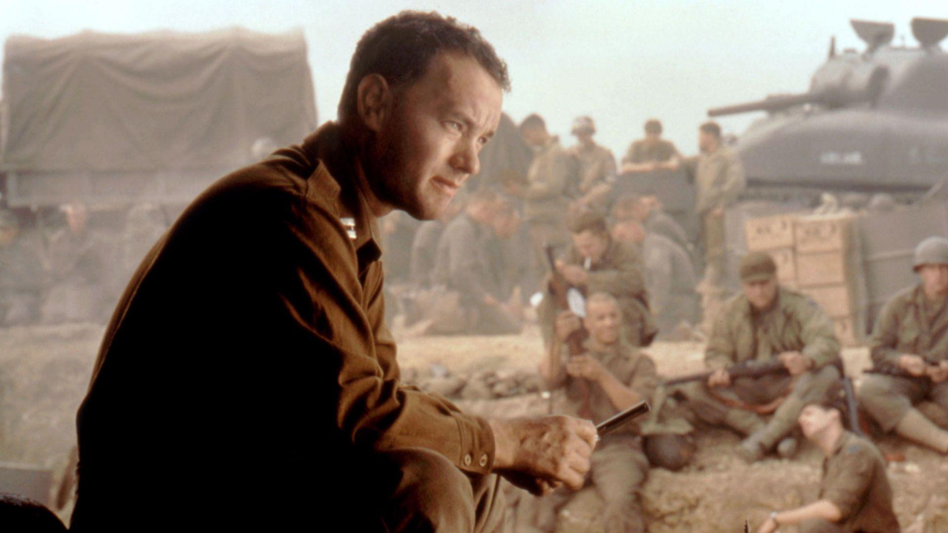 """Tom Hanks in """"Saving Private Ryan."""""""