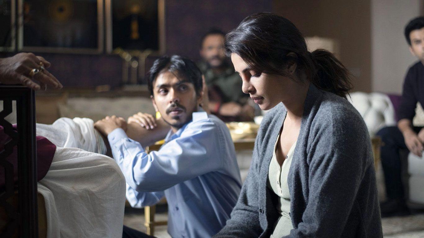 "Adarsh Gourav and Priyanka Chopra Jonas in ""The White Tiger."""