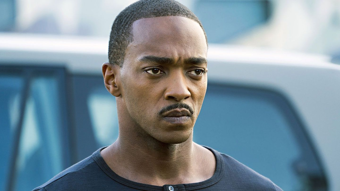 """Anthony Mackie in """"Outside the Wire."""""""