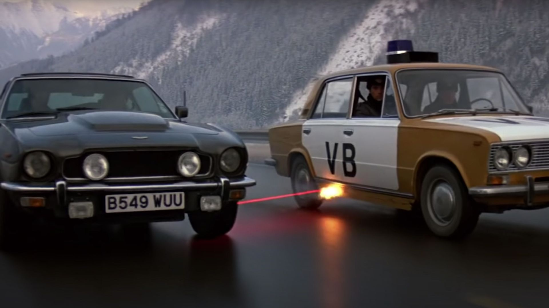"Aston Martin V8 Vantage Volante from ""The Living Daylights."""