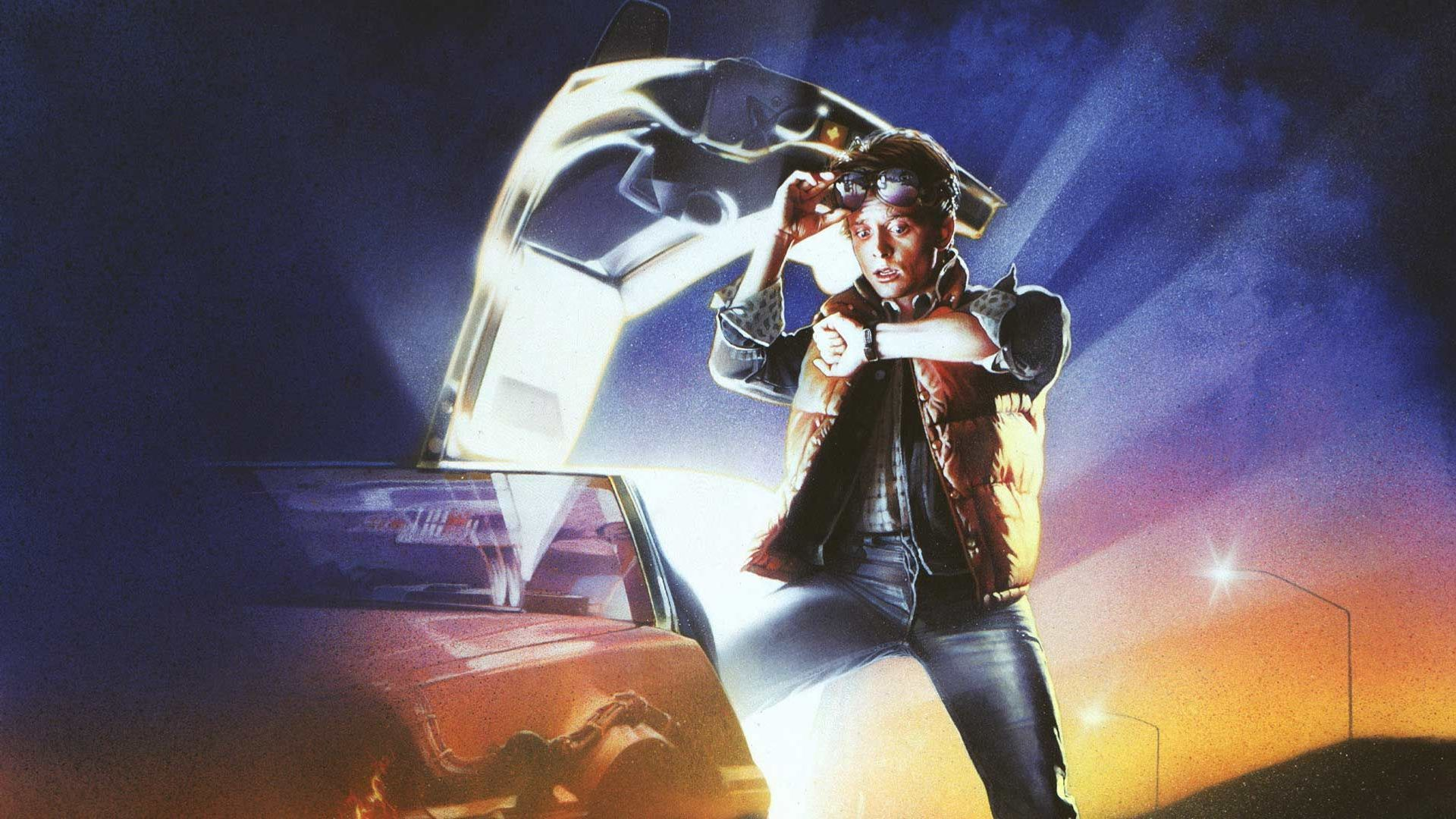 """""""Back to the Future"""" movie poster."""