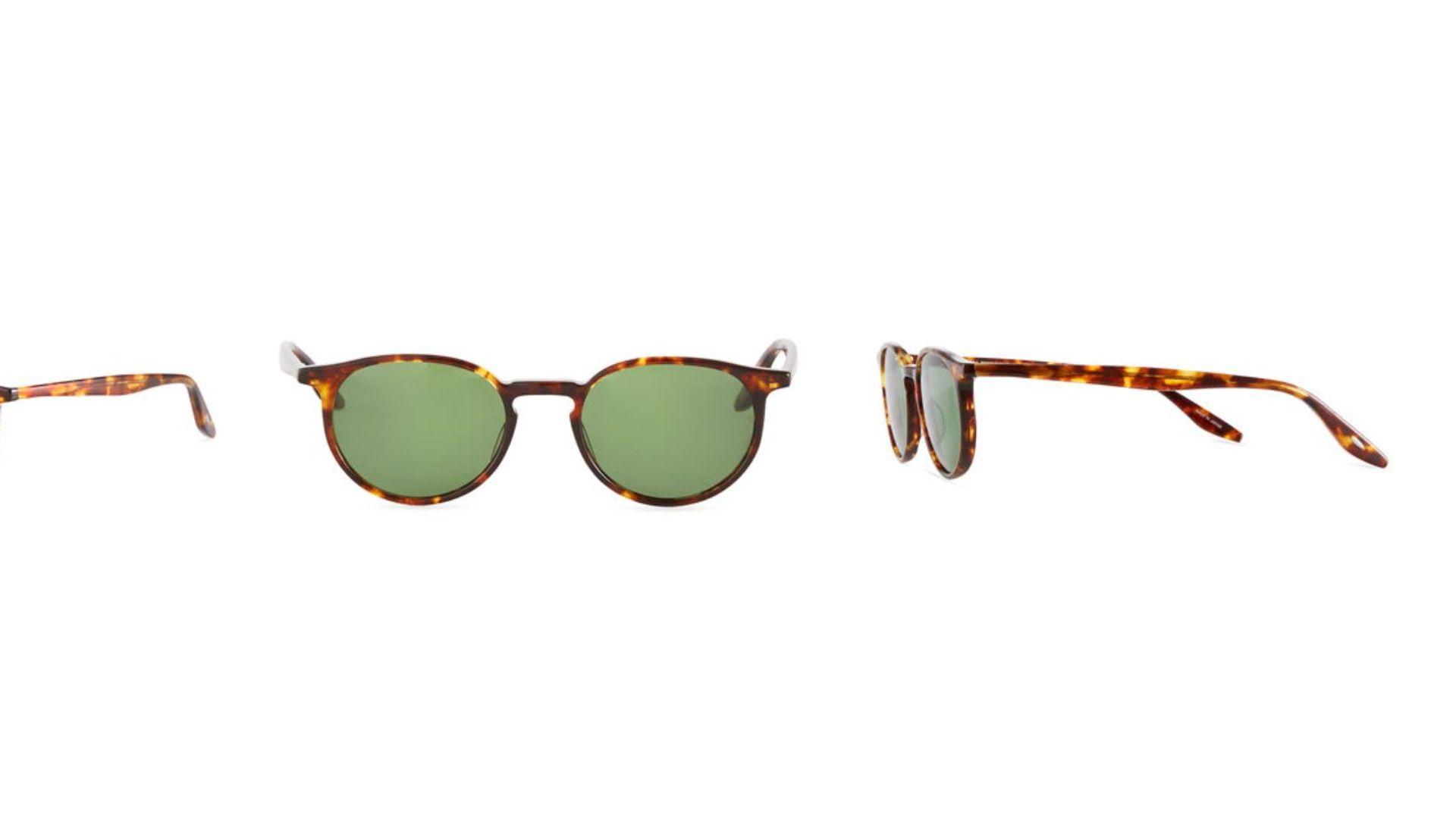 Barton Perreira Men's 007 Norton Tortoiseshell Round Sunglasses