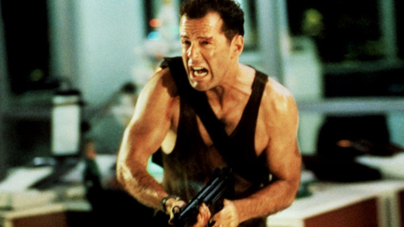 "Based on a Book - Bruce Willis in ""Die Hard."""