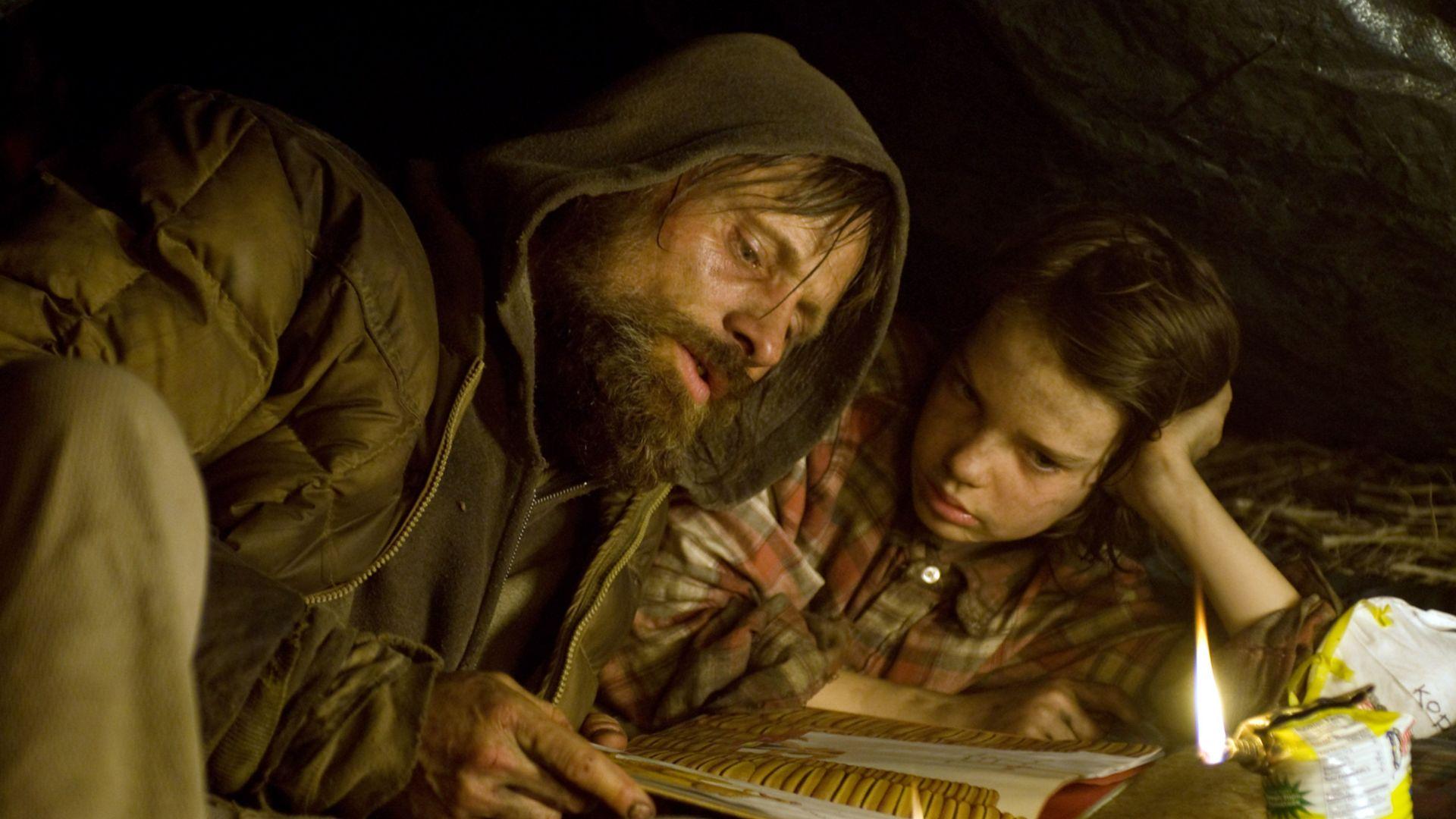 """Viggo Mortensen as Man in """"The Road."""""""