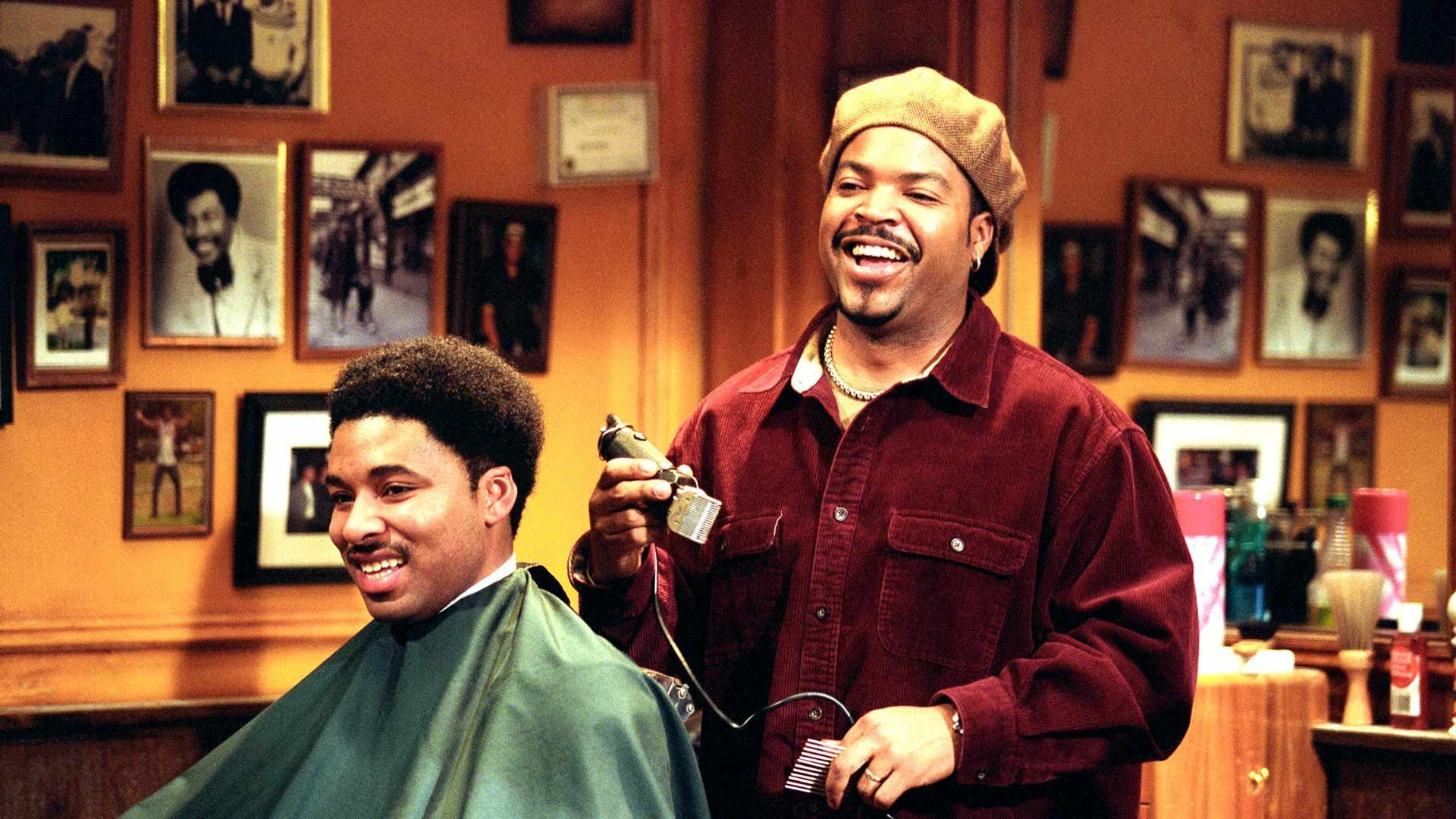 barbershop scene with ice cube