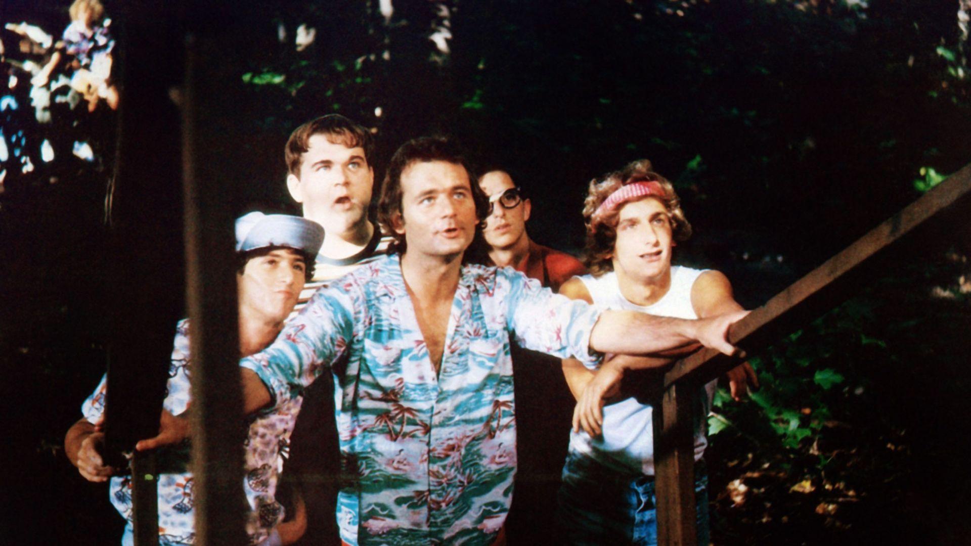 "Todd Hoffman, Keith Knight, Bill Murray, Jack Blum and Matt Craven in ""Meatballs."""
