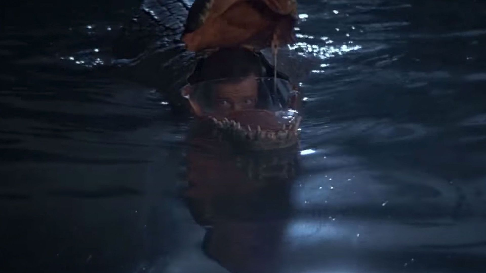 """Roger Moore in the crocodile submarine in """"Octopussy."""""""