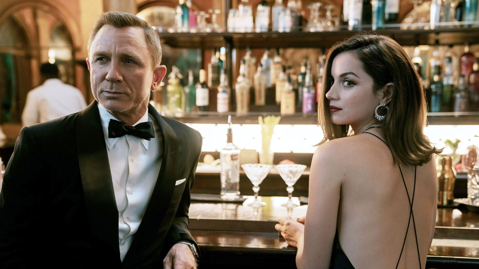 """Box Office - Daniel Craig and Ana de Armas in """"No Time to Die."""""""