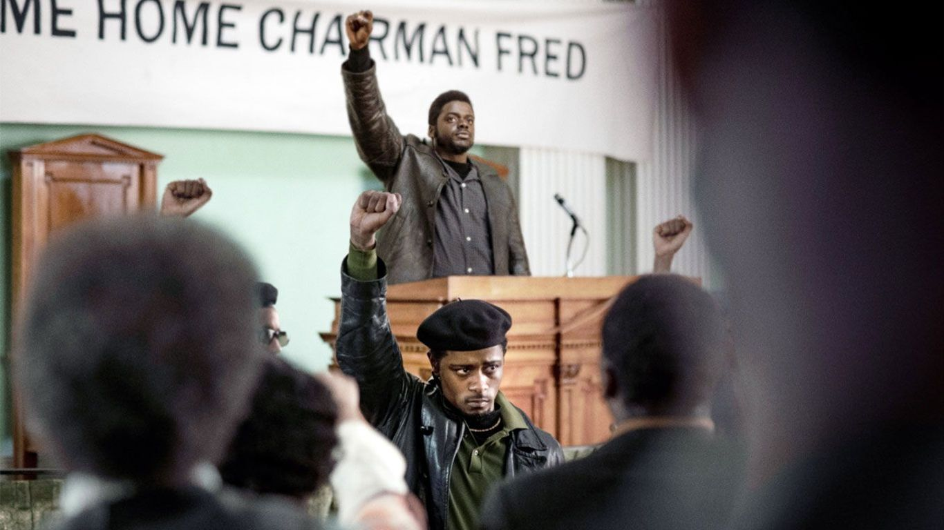 """Daniel Kaluuya and LaKeith Stanfield in """"Judas and the Black Messiah."""""""