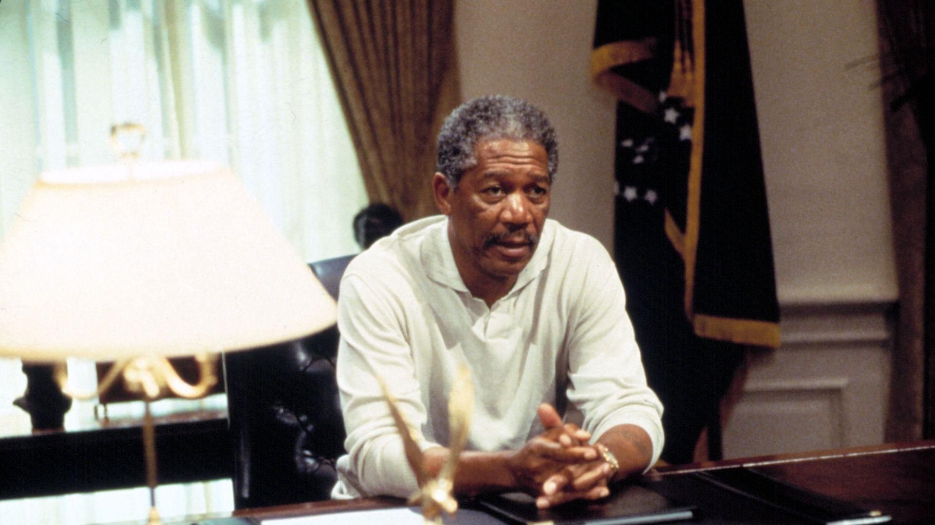 "Morgan Freeman in ""Deep Impact."""