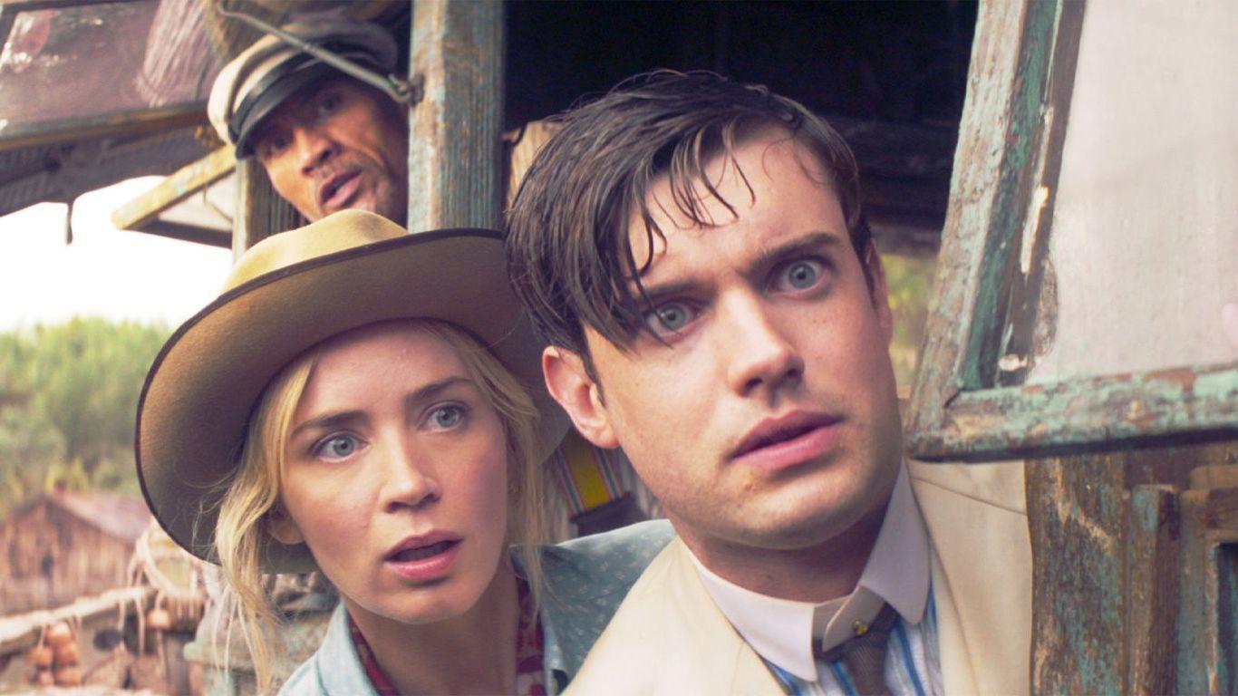 "Box Office - Dwayne Johnson, Emily Blunt, Jack Whitehall in ""Jungle Cruise."""
