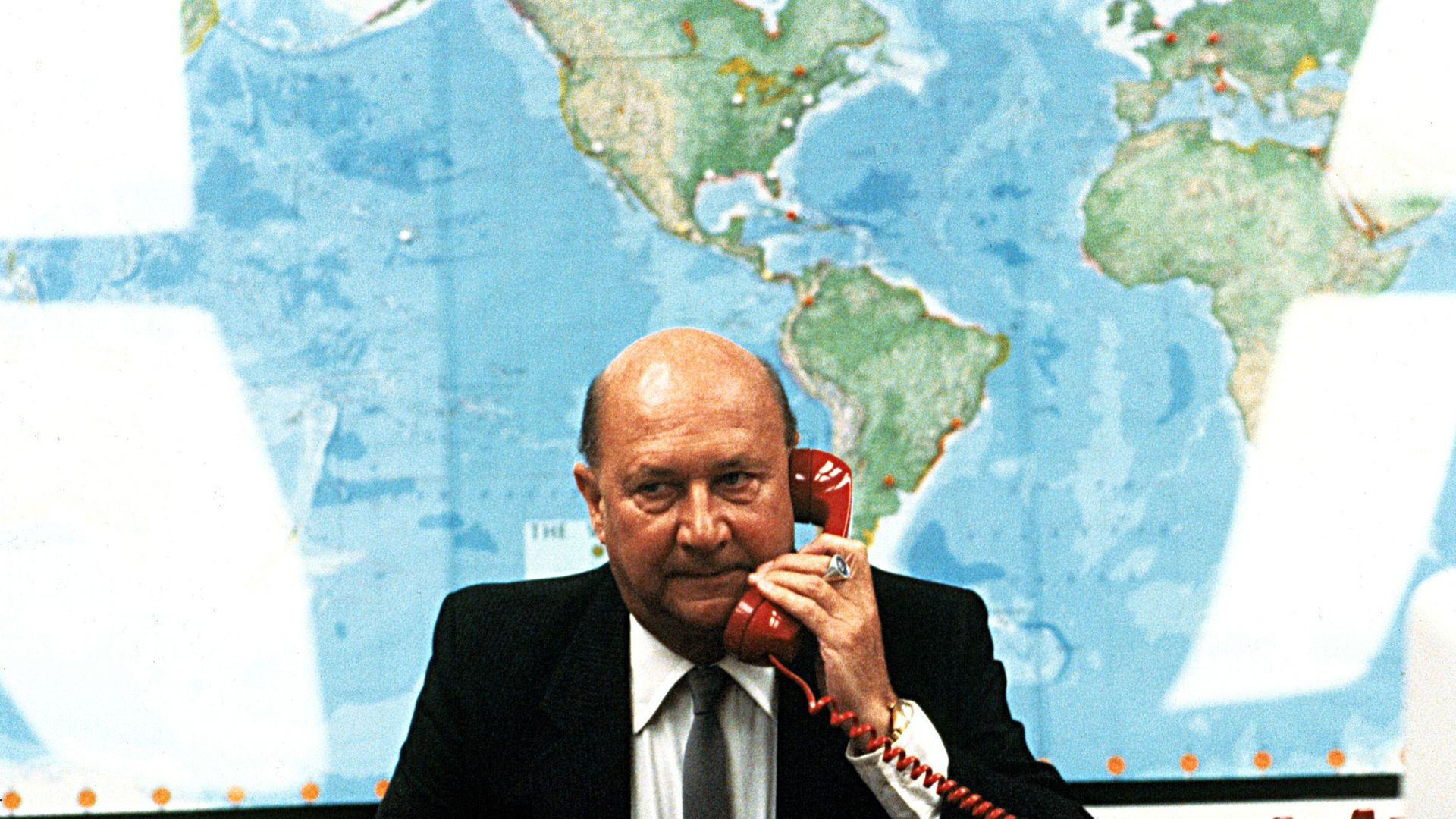 """Donald Pleasence in """"Escape from New York."""""""
