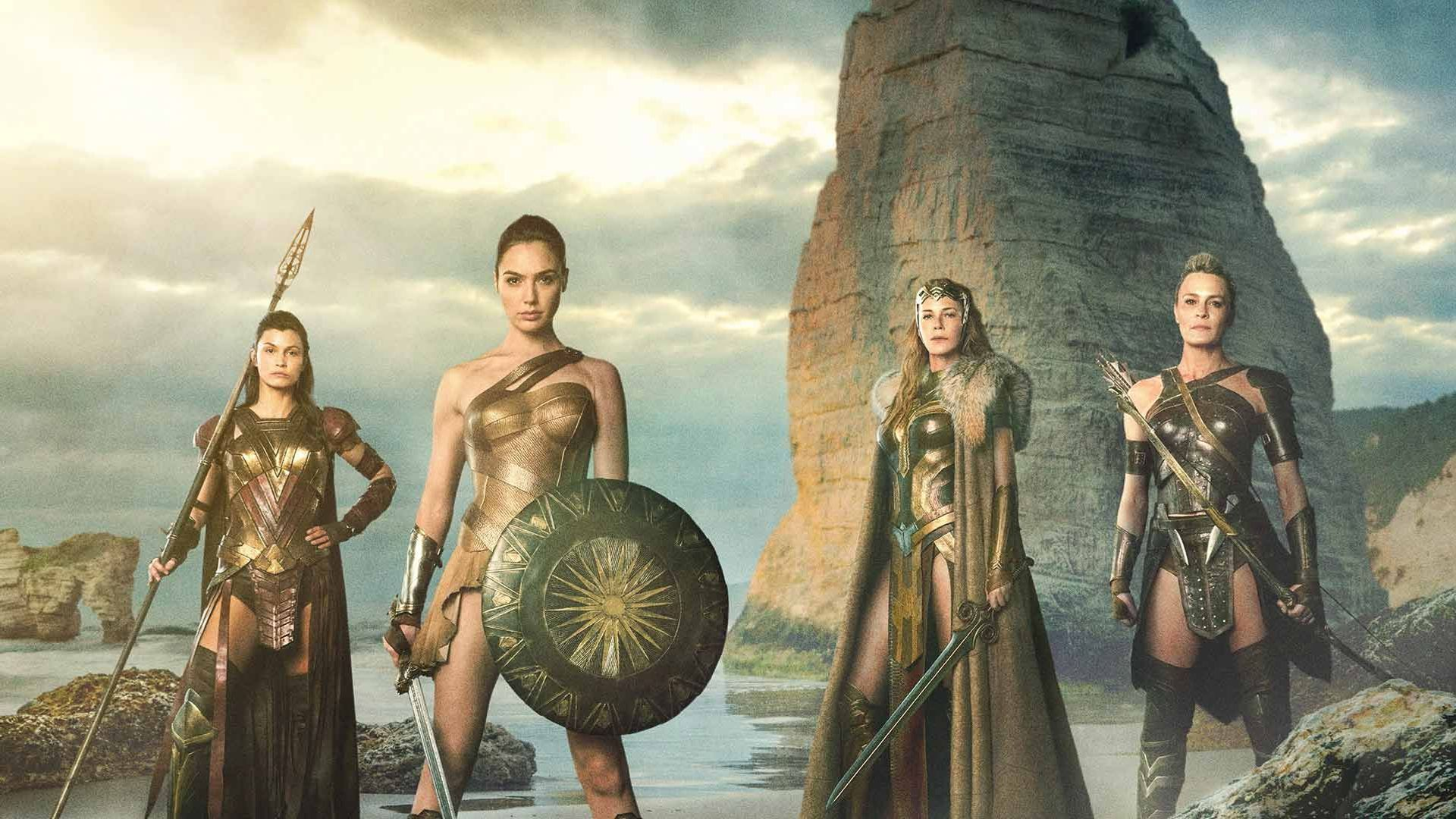 """Gal Gadot and Amazonians in """"Wonder Woman."""""""