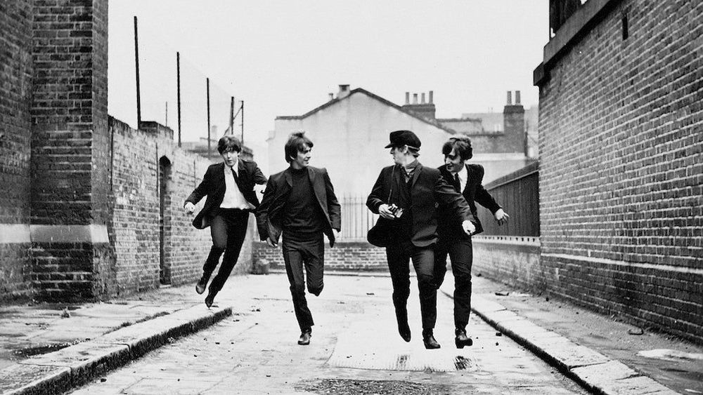 """The Beatles in """"A Hard Day's Night."""""""