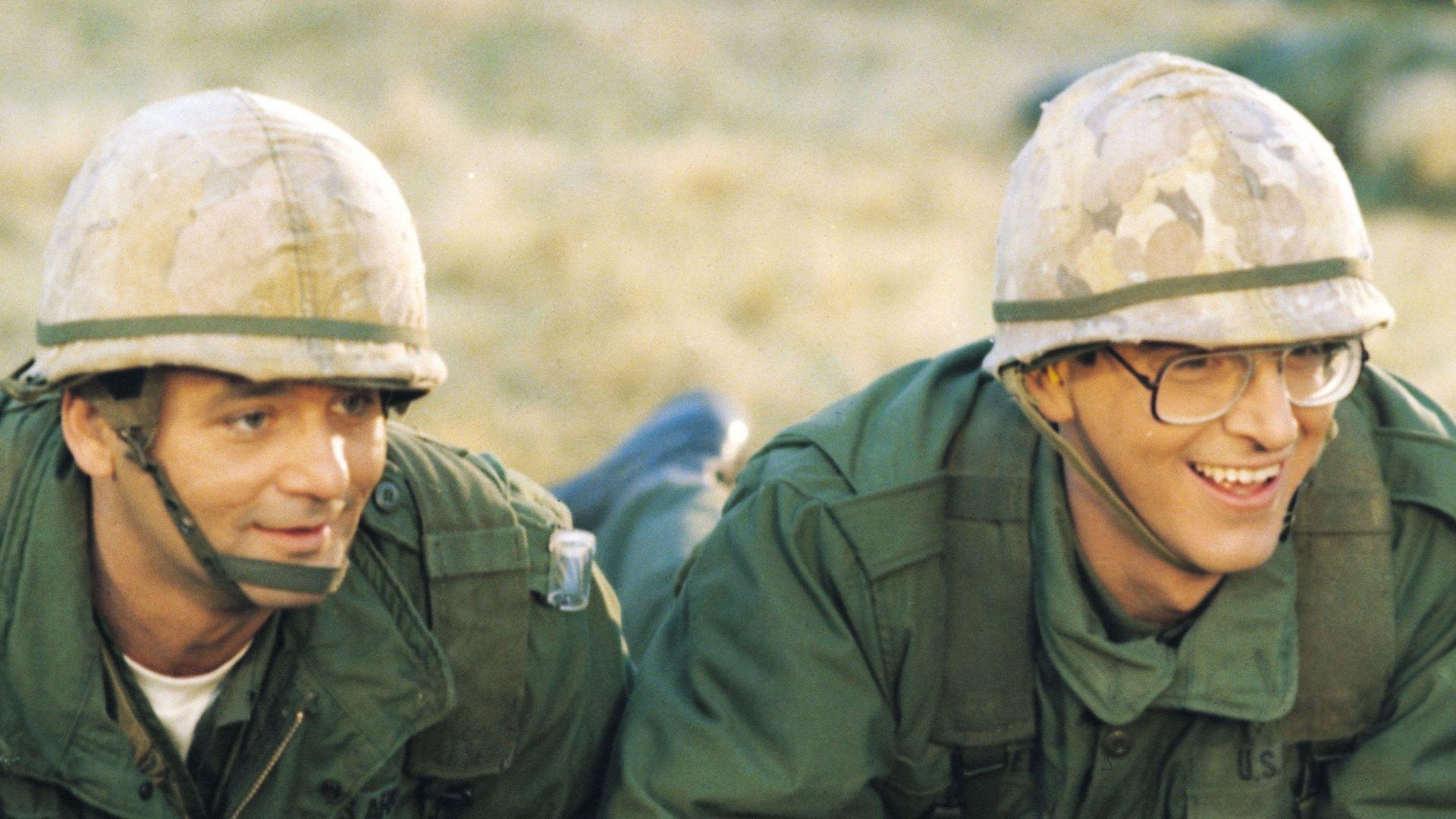 "Bill Murray and Harold Ramis in ""Stripes."""