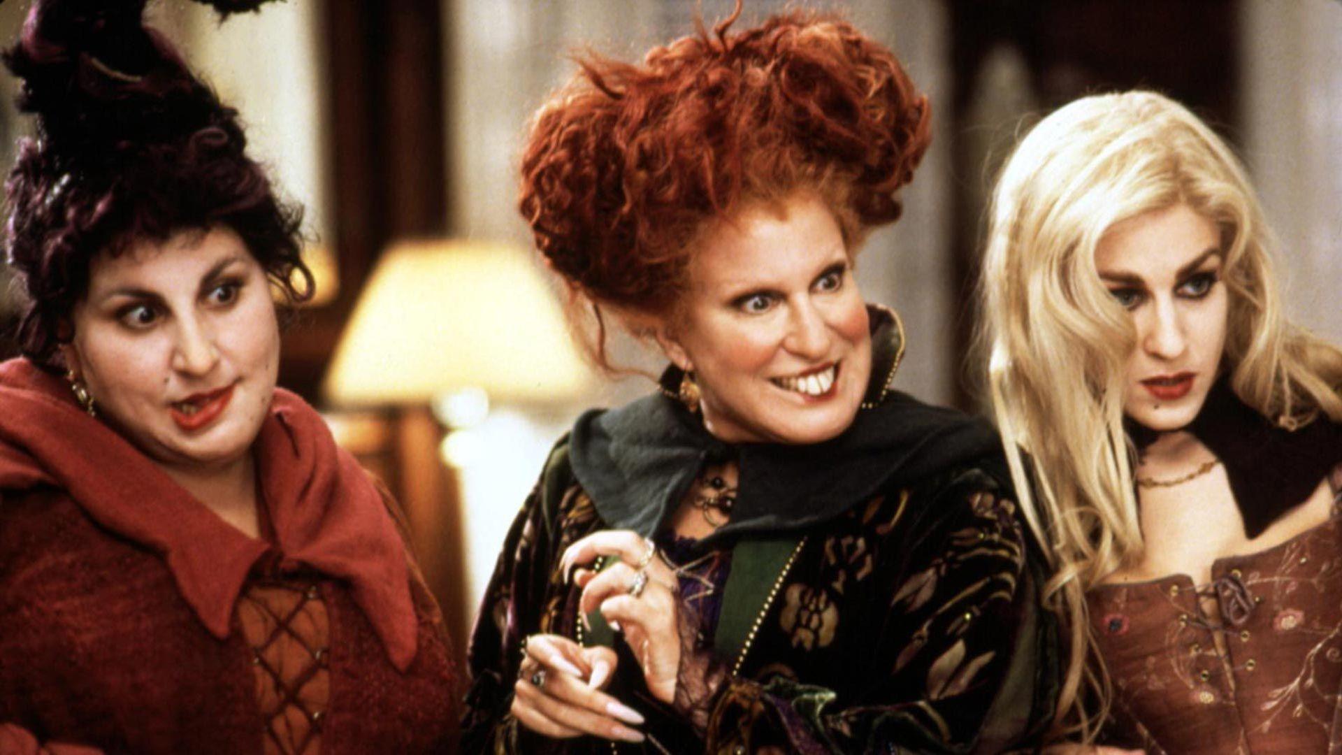 "Kathy Najimy, Bette Midler and Sarah Jessica Parker in ""Hocus Pocus."""