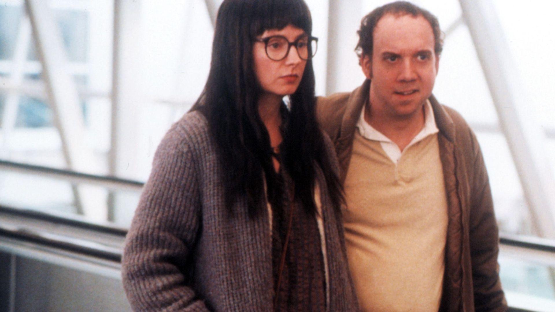 "Hope Davis and Paul Giamatti in ""American Splendor."""