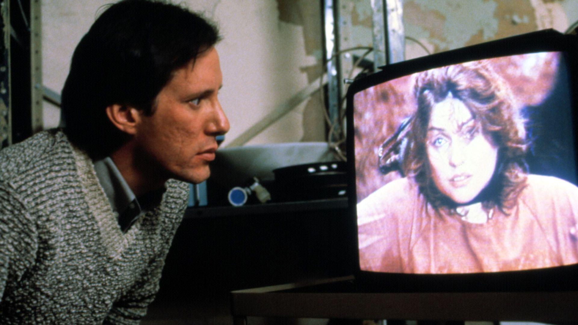 """James Woods and Deborah Harry in """"Videodrome."""""""