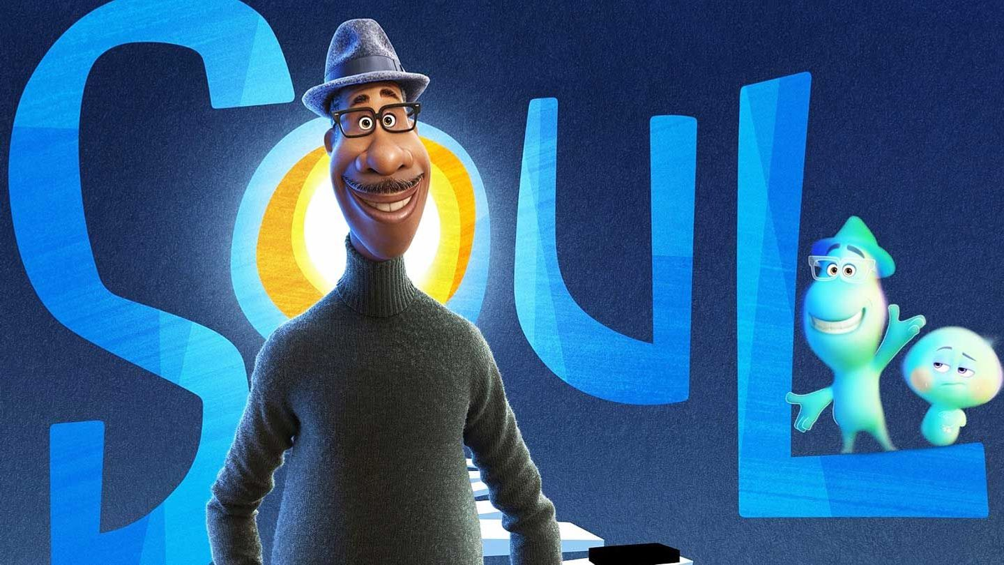 """Joe Gardner (voiced by Jamie Foxx) and 22 (voiced by Tine Fey) in """"Soul."""""""