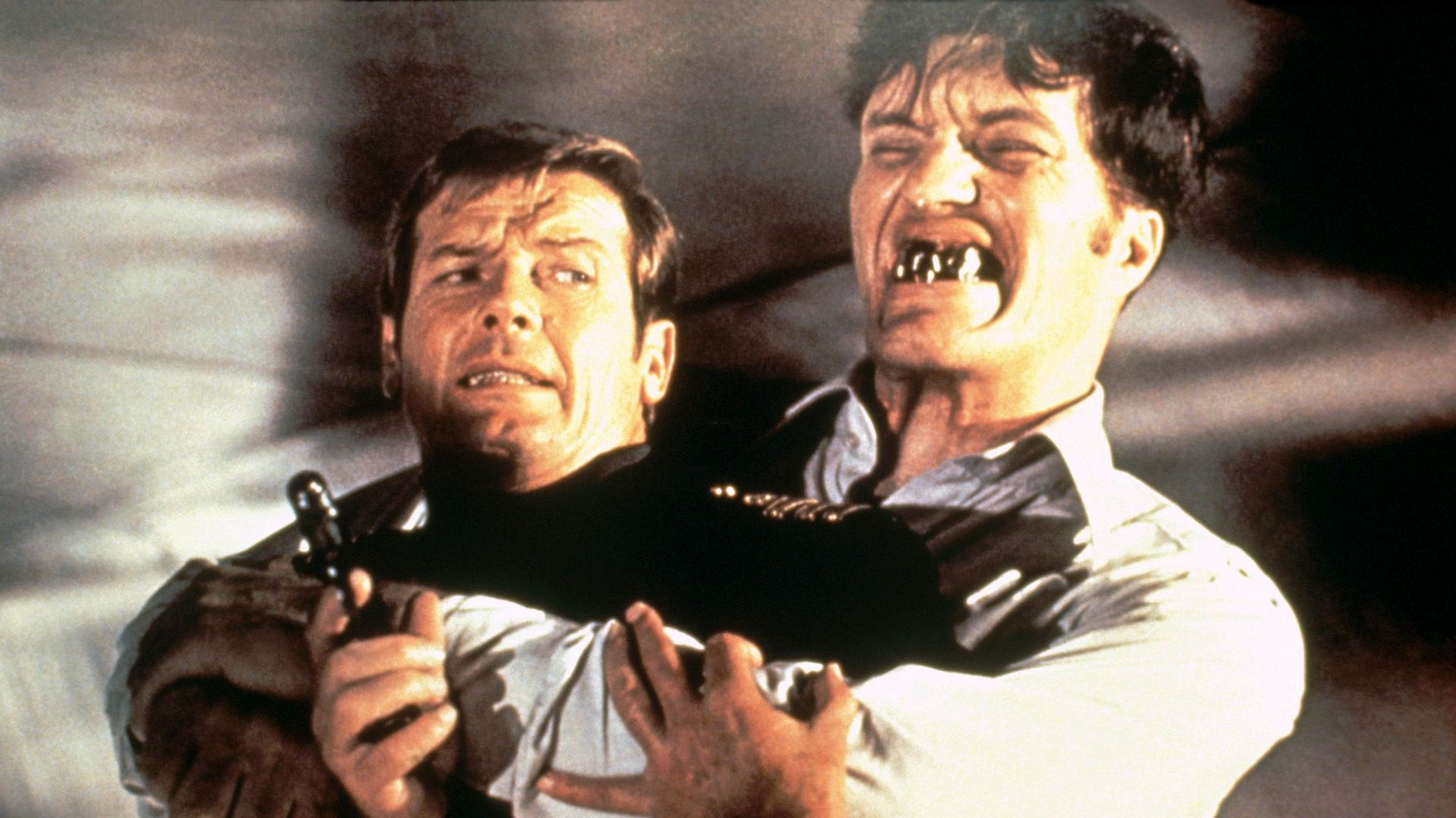 """Roger Moore and Richard Kiel in """"The Spy Who Loved Me."""""""
