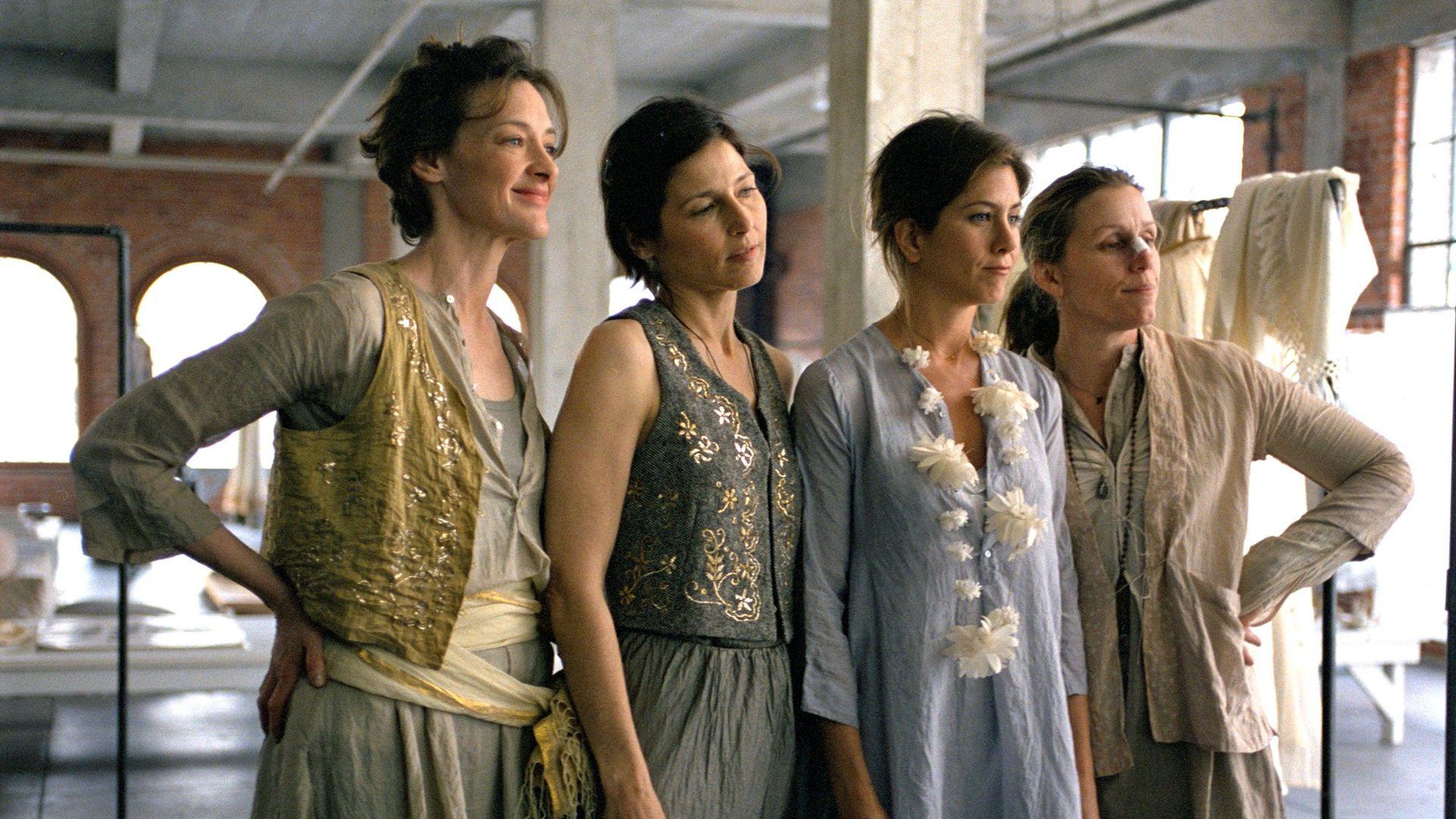 "Joan Cusack, Catherine Keener, Jennifer Aniston, Frances McDormand in ""Friends with Money."""