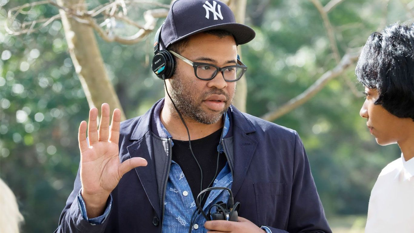"""Jordan Peele on the set of """"Get Out."""""""