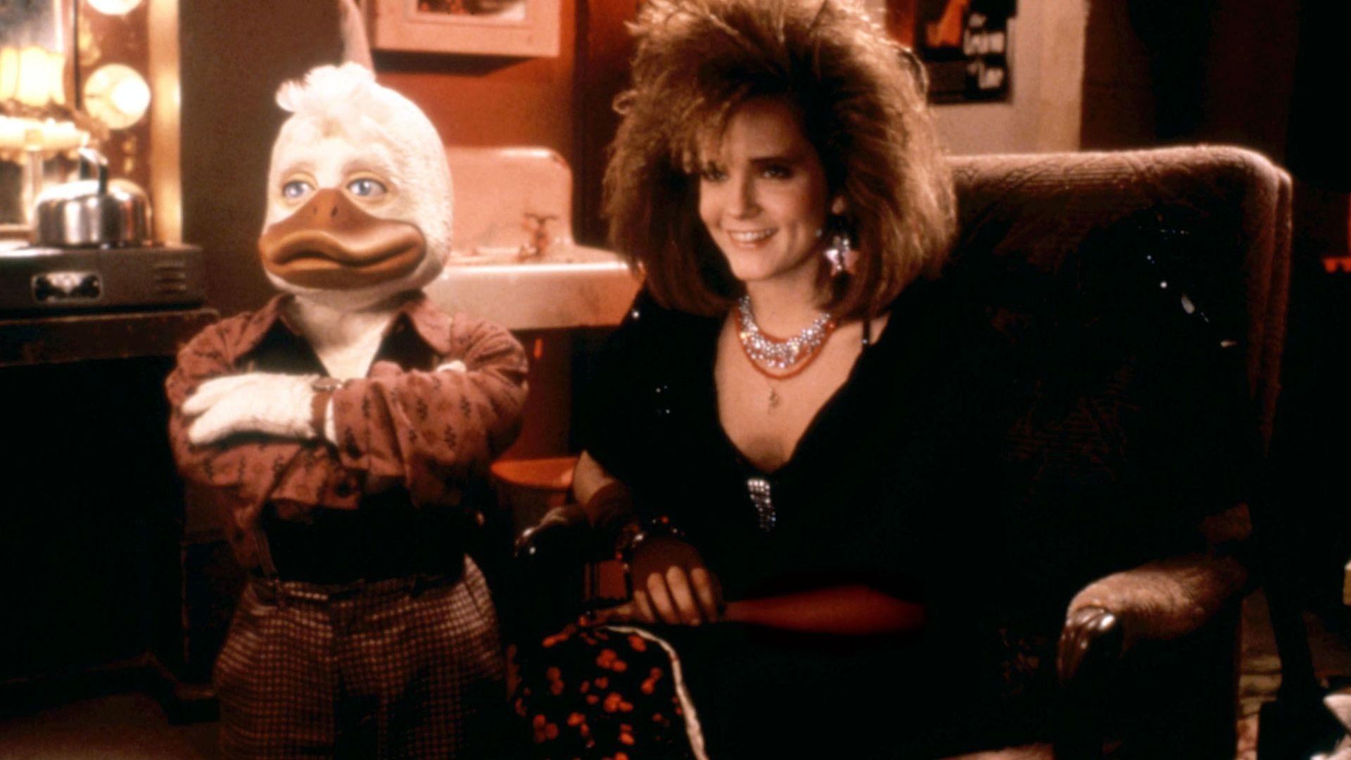"Lea Thompson in ""Howard the Duck."""