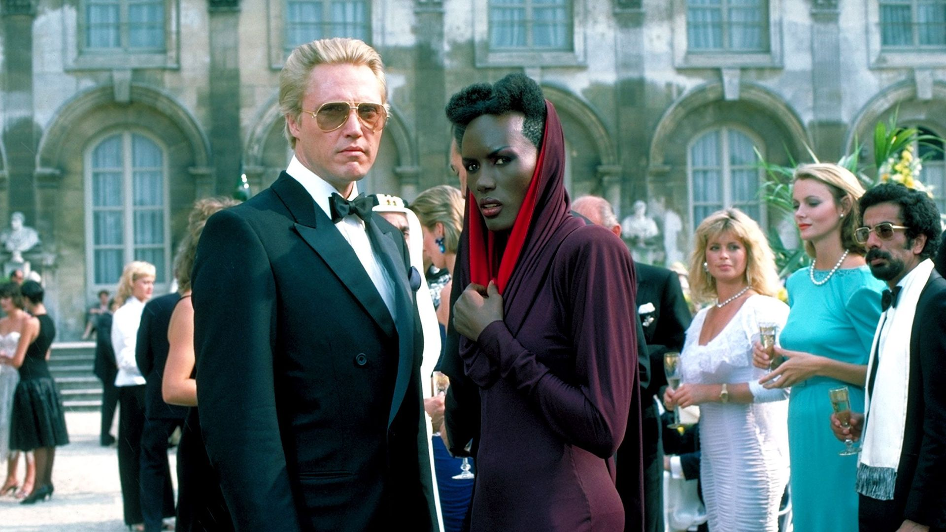 """Christopher Walken and Grace Jones in """"A View to a Kill."""""""
