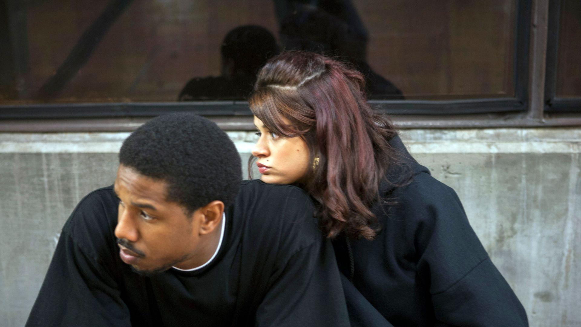 """Michael B. Jordan and Melonie Diaz in """"Fruitvale Station."""""""