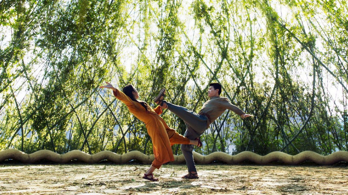 """Box Office - Michelle Yeoh and Simu Liu in """"Shang-Chi."""""""
