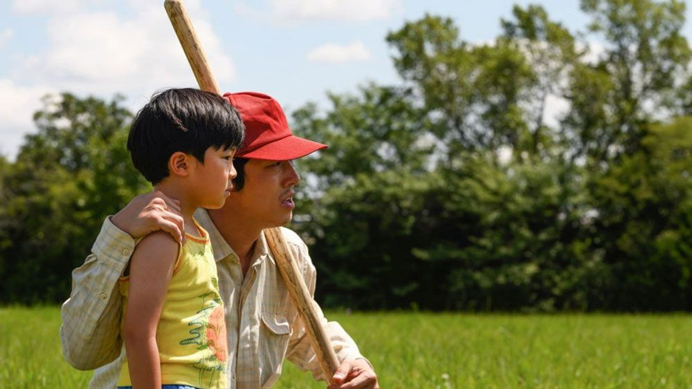"Alan S. Kim and Steven Yeun in ""Minari."""