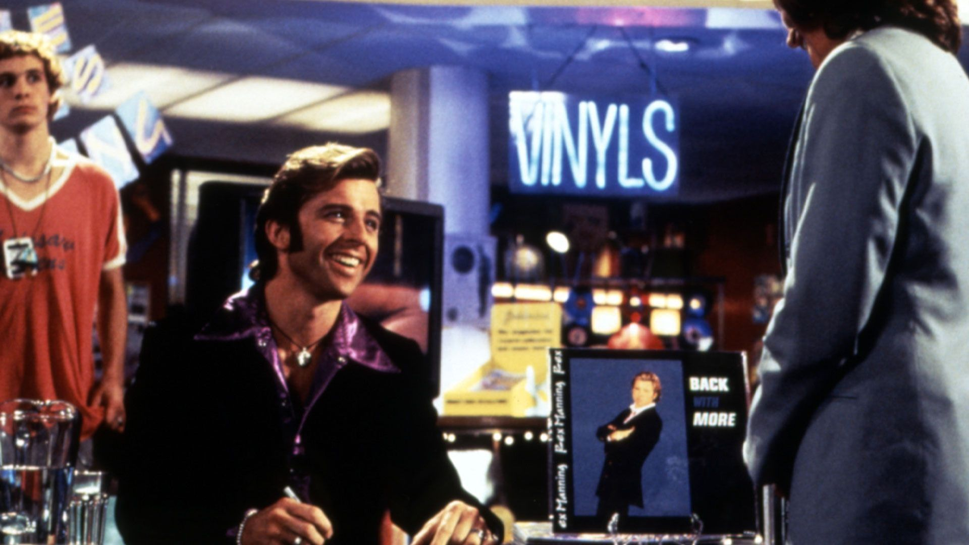 """Maxwell Caulfield as Rex Manning in """"Empire Records."""""""
