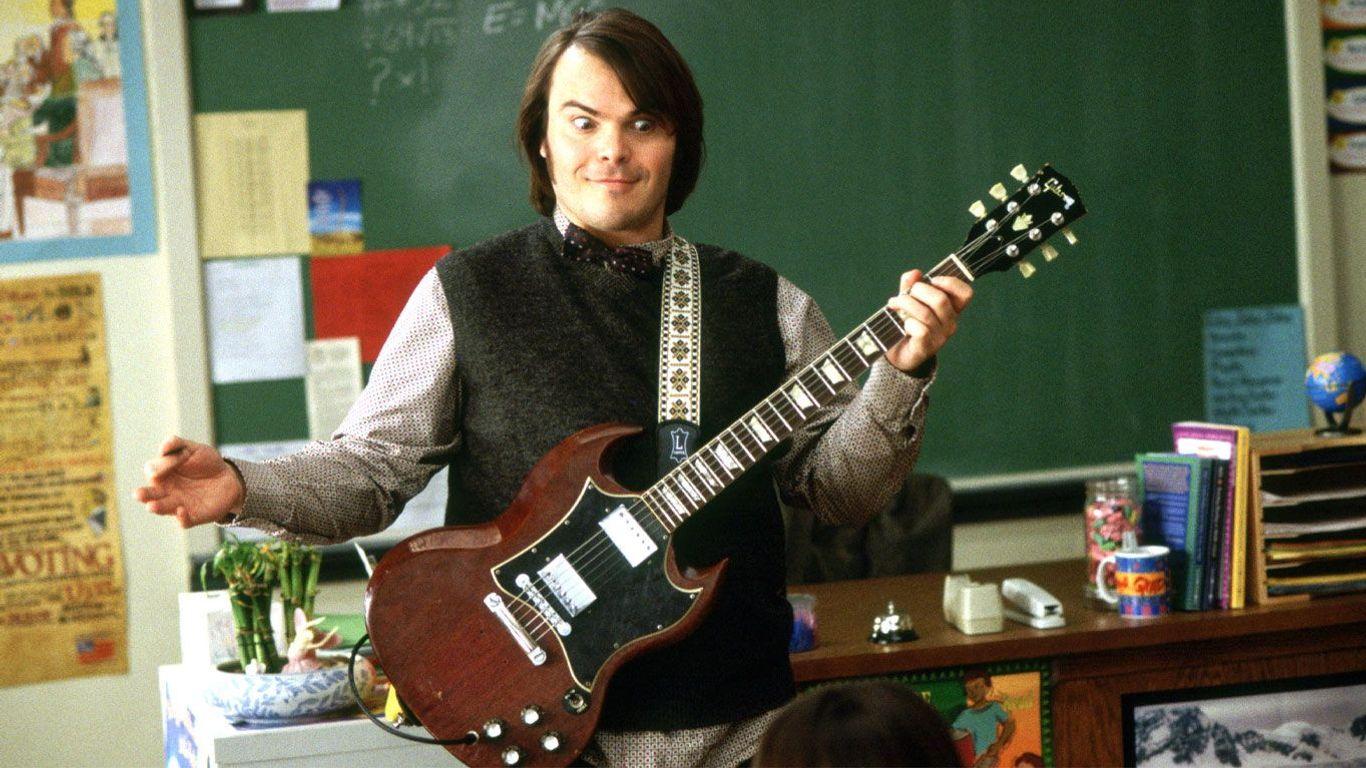 """Movie Teachers - Jack Black in """"School of Rock."""""""
