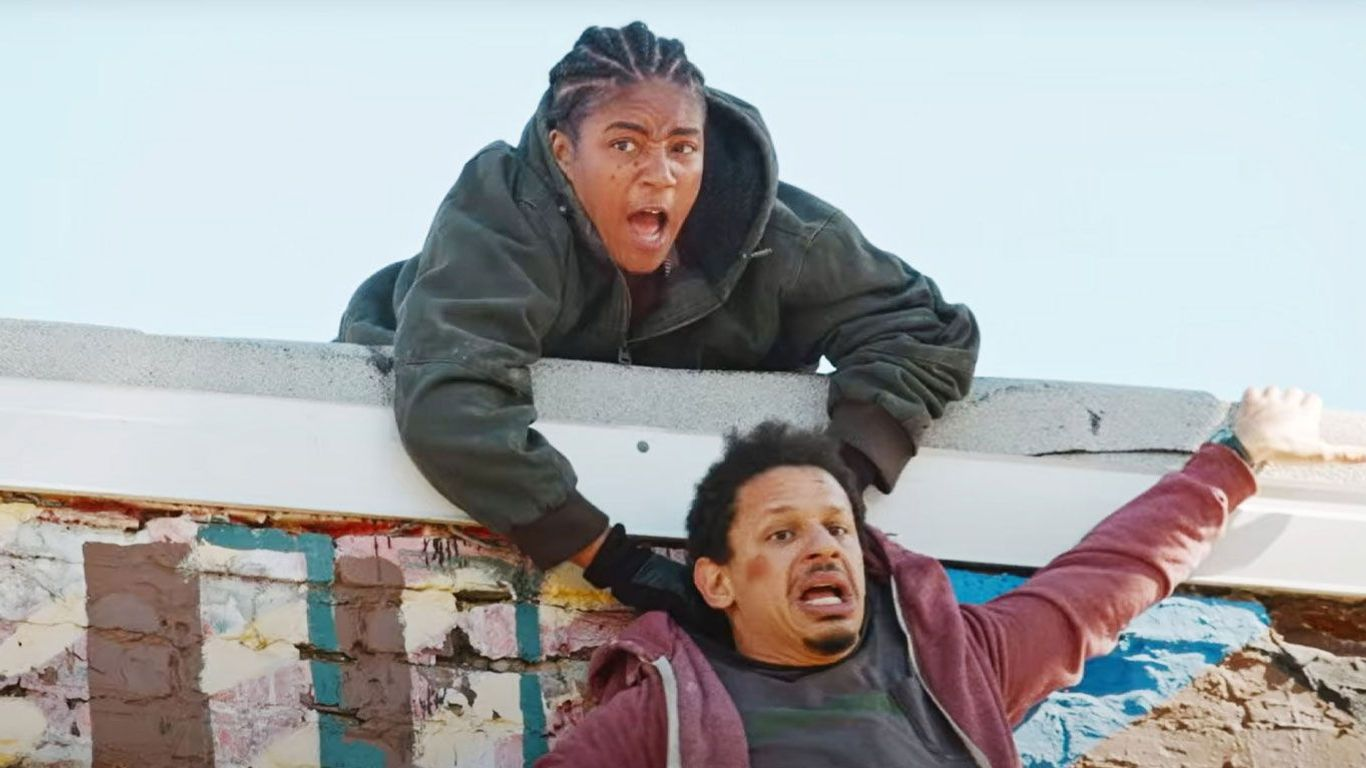 """Tiffany Haddish and Eric Andre in """"Bad Trip,"""" one of the new indie movies."""