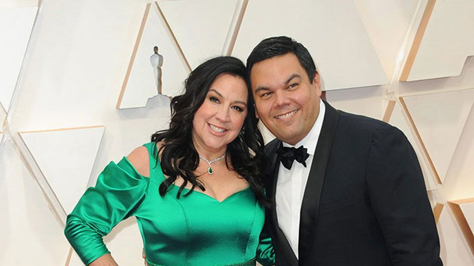 Robert Lopez & Kristen Anderson-Lopez at the 92nd Academy Awards in Hollywood, CA.
