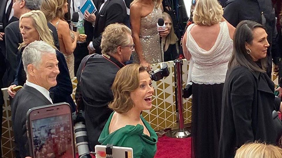 Sigourney Weaver at the 92nd Academy Awards in Hollywood, CA.