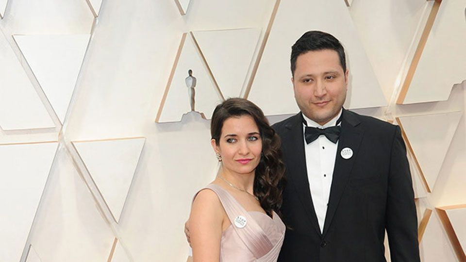 Waad Al-Kateab & Hamza al-Kateab & Sama Al-Kateab at the 92nd Academy Awards in Hollywood, CA.