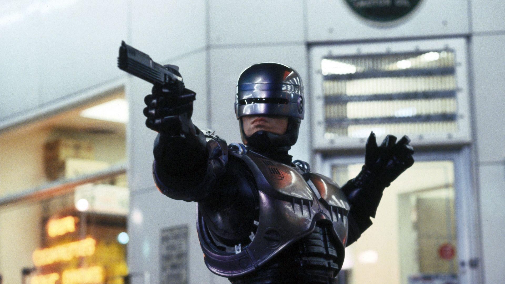 """Peter Weller in """"RoboCop."""""""