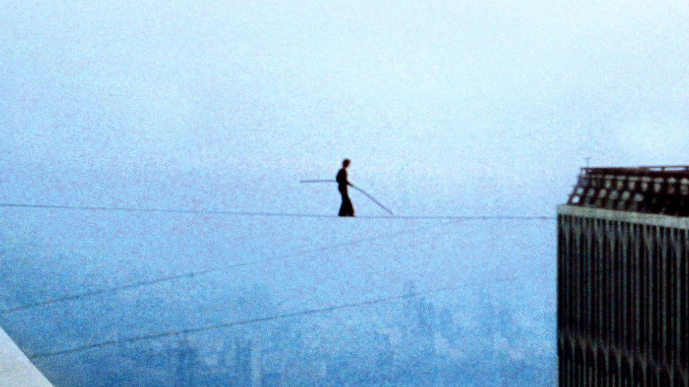 """Philippe Petit in """"Man on Wire."""""""